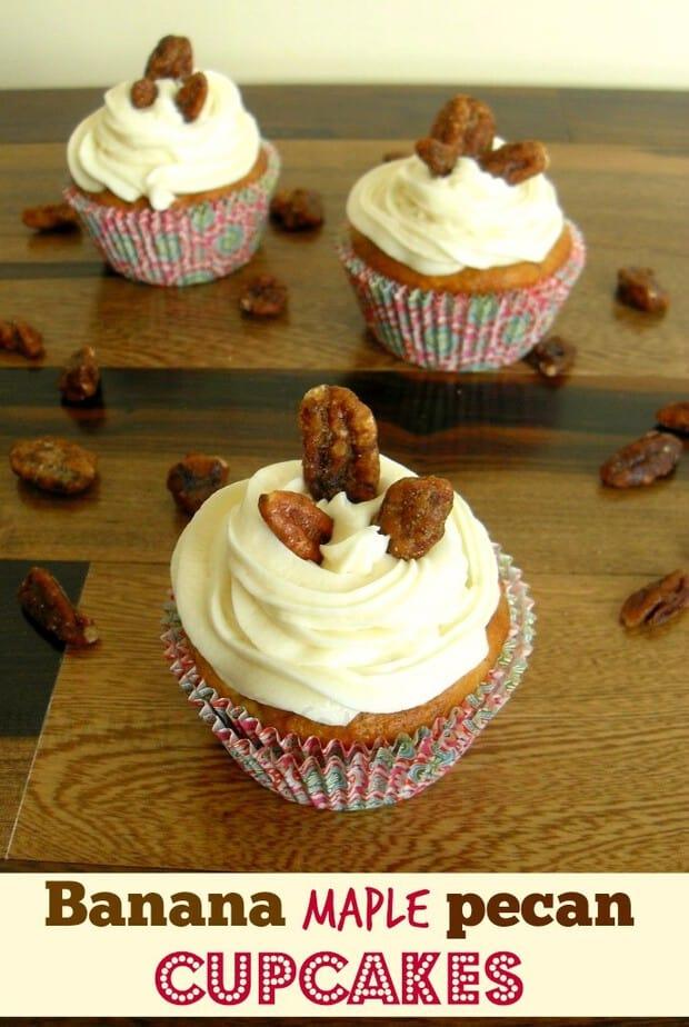 banana maple cupcakes