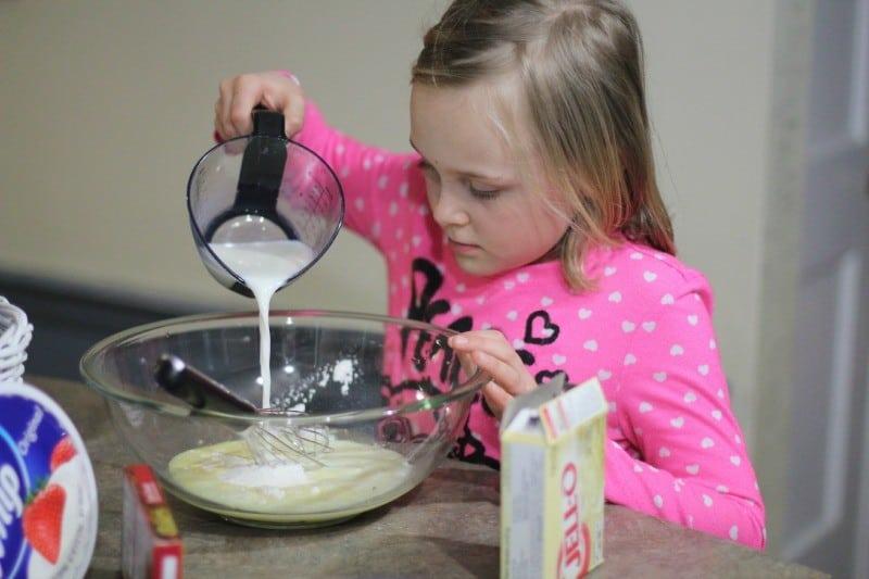 boston cream pie mixing