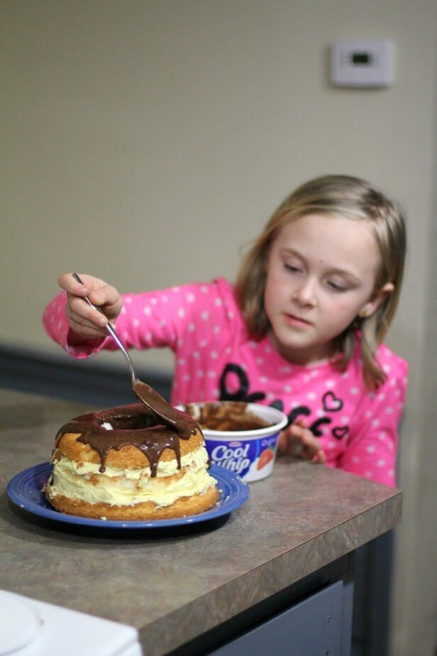 finishing boston cream pie