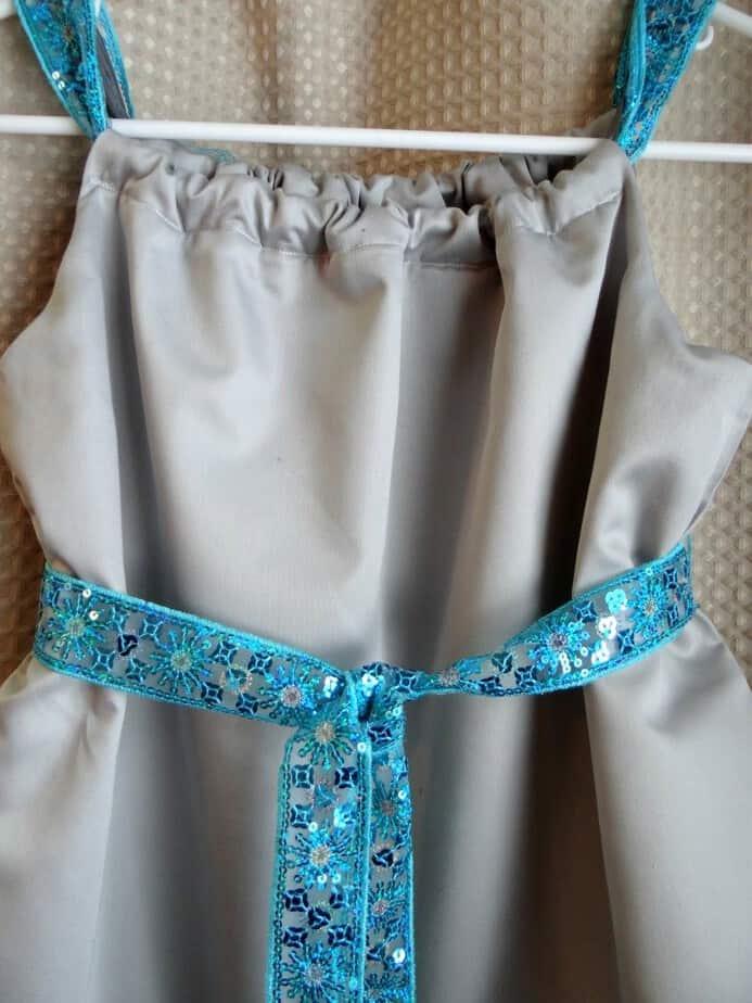 frozen inspired anna pillowcase dress back