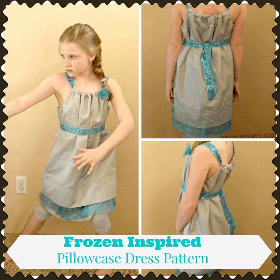 Pillowcase Dress Pattern Disney Frozen Inspired