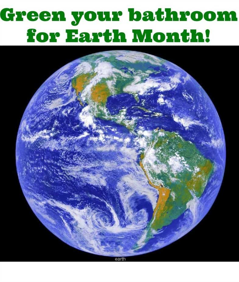 green bathroom for earth month