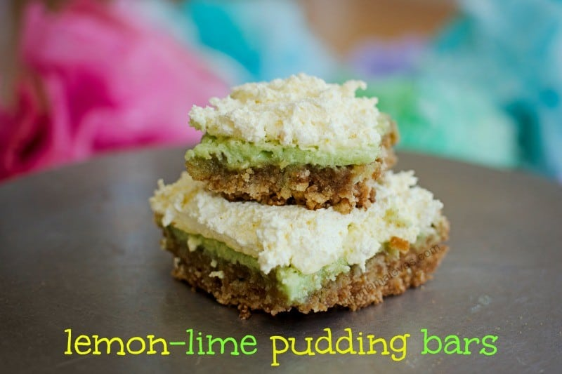 lemon lime pudding bars recipe