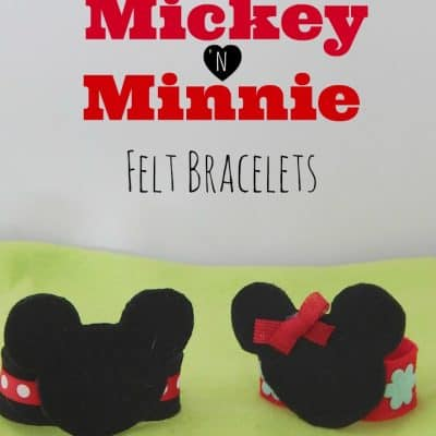 Mickey and Minnie Mouse Felt Bracelets Craft