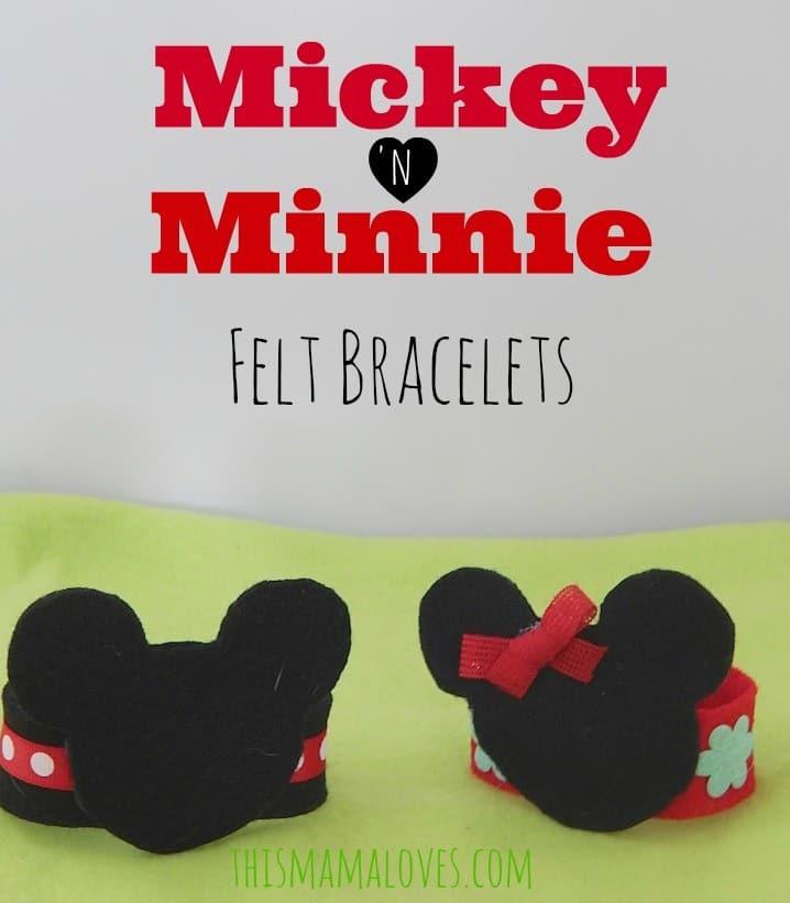mickey minnie mouse felt bracelets