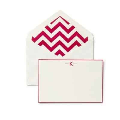 monogram chevron stationary