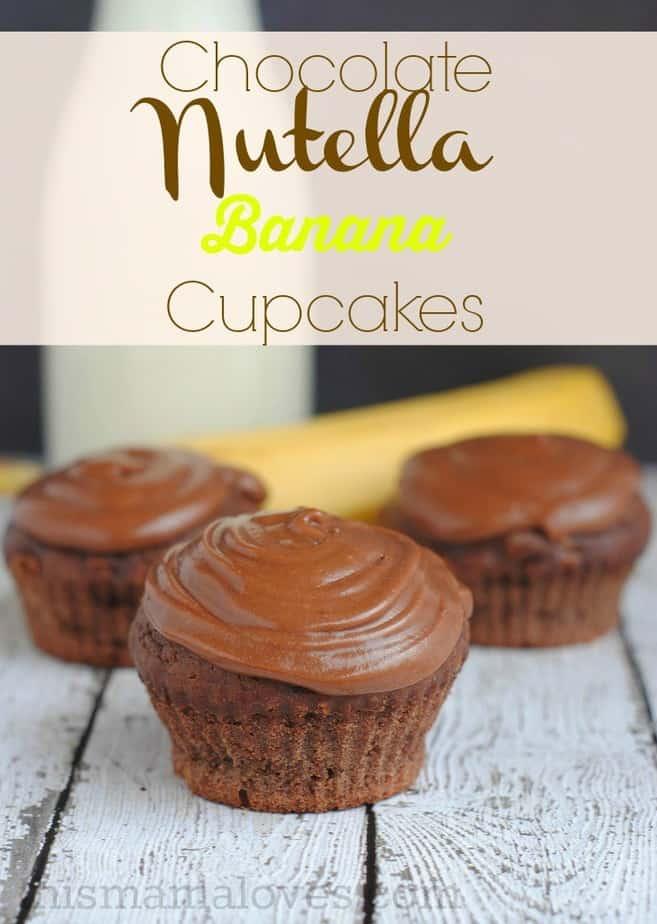 nutella recipe chocolate banana nutella cupcake