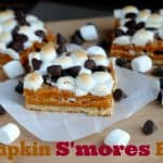 pumpkin smores bars labelled
