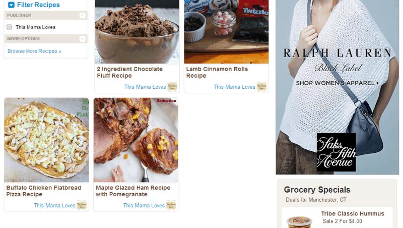 recipe box screenshot ziplist