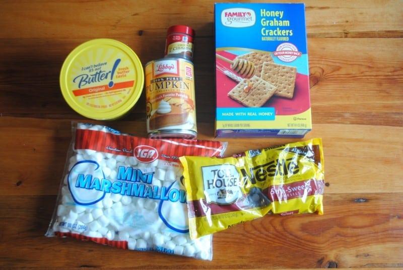 smores bars ingredients