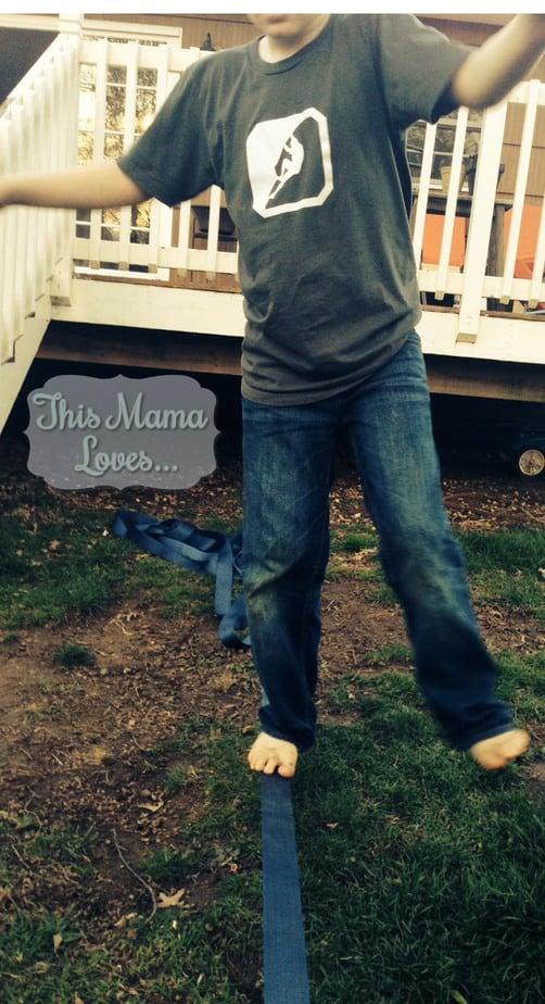back yard fun with slacklining this mama loves