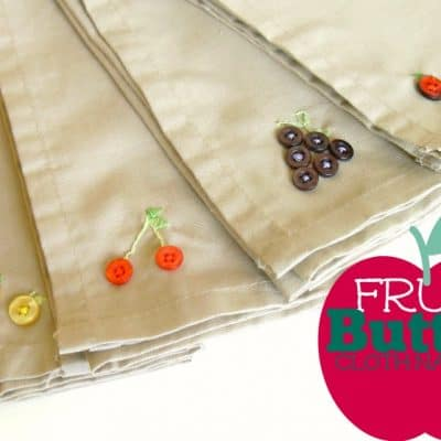 Button Crafts – Cloth Napkins With Button Fruit Details