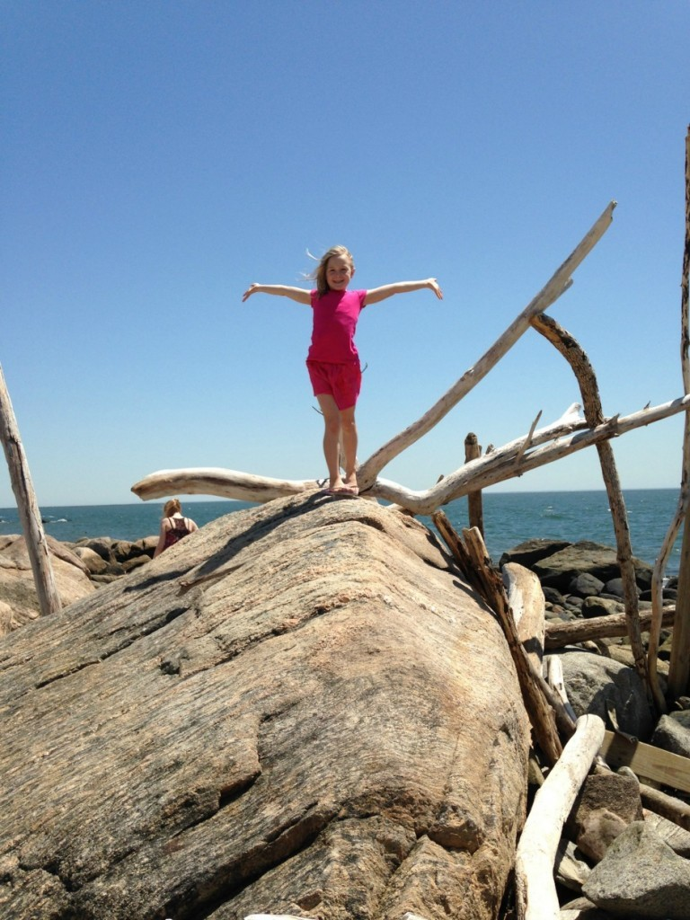 climbing-rocks-hammonasset-beach-ct