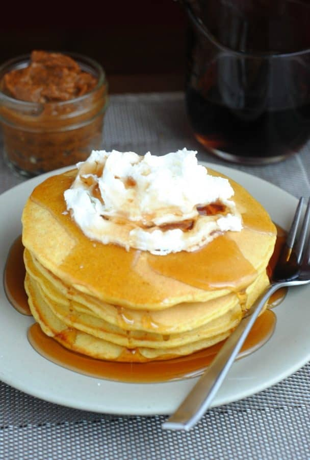 Pumpkin Pancakes with Pumpkin Butter