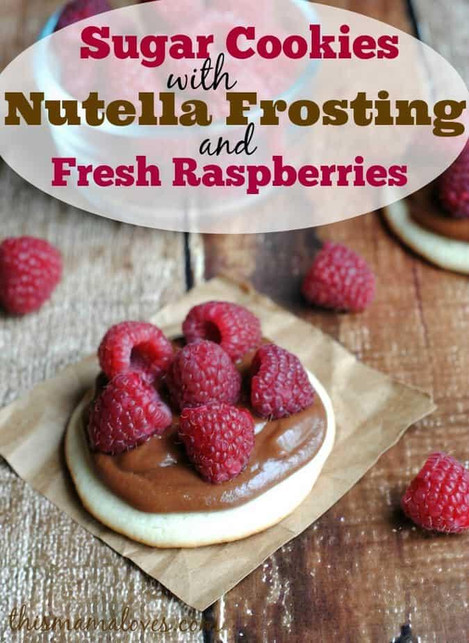 sugar-cookie-nutella-frosting-raspberries