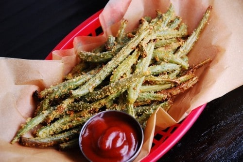 baked-parmesan-green-bean-fries