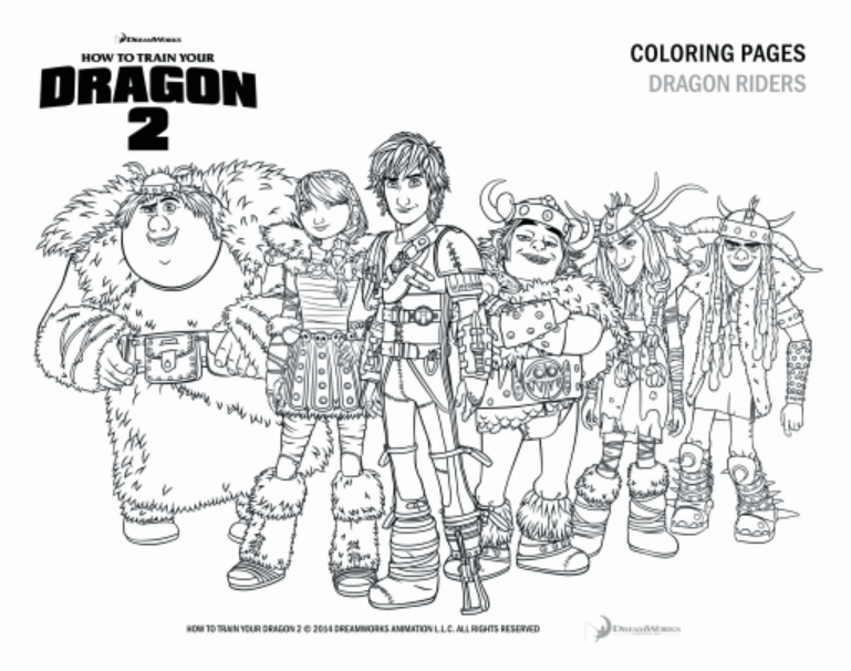 Colouring Pages How To Train Your Dragon 2 Coloring Page