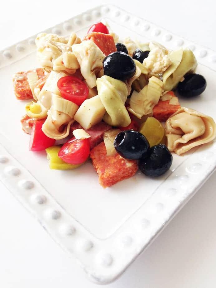 skinny antipasto pasta salad