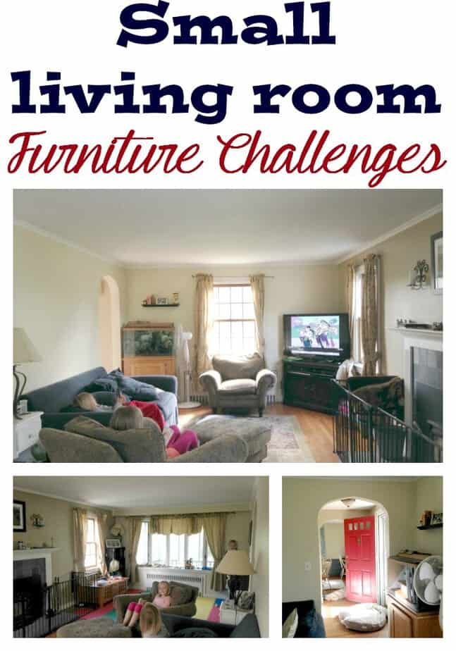 Small living room furniture challenges this mama loves - Small space livingroom ...