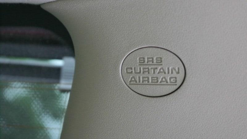 toyota sienna rear airbag