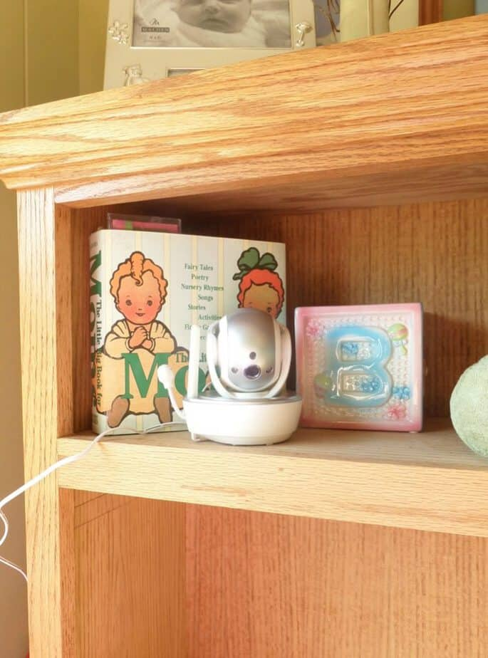 vtech monitor on shelf