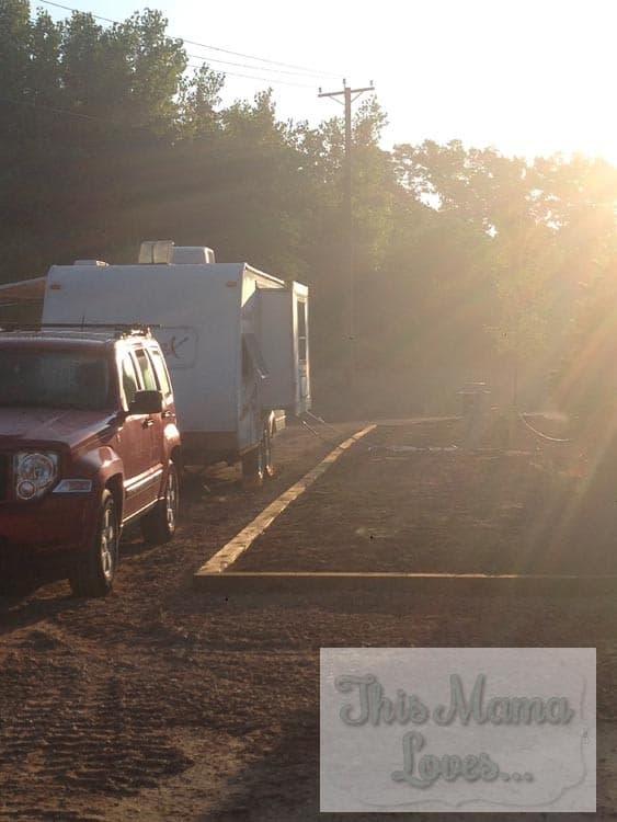 rv set up at Bear Creek