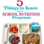 things to know about school nutrition programs