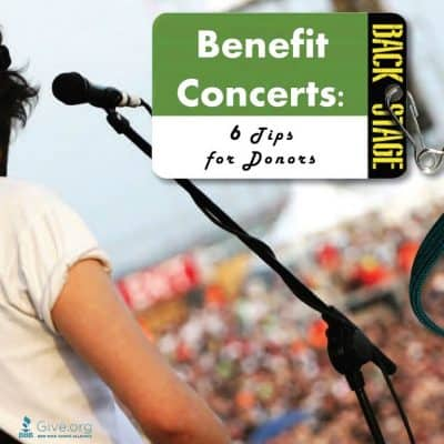 9 Tips for benefit concert donors