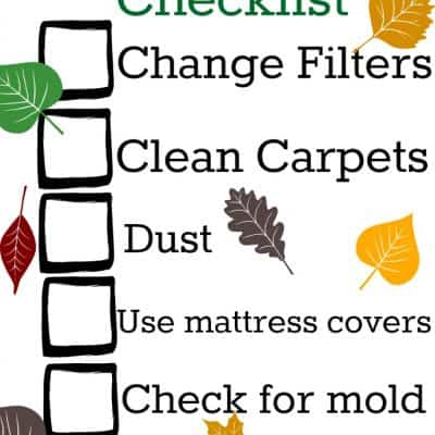 Fall Allergy Cleaning Checklist