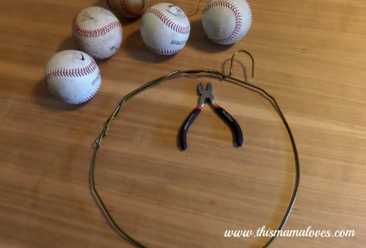 Baseball Wreath Decor
