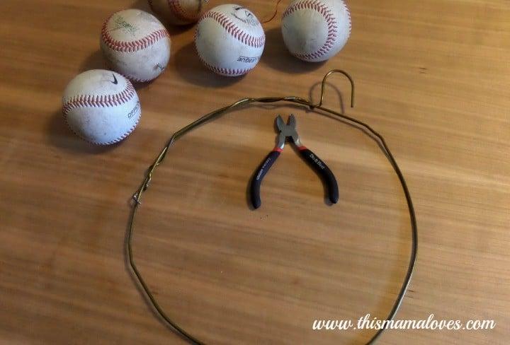 Baseball Wreath Decor