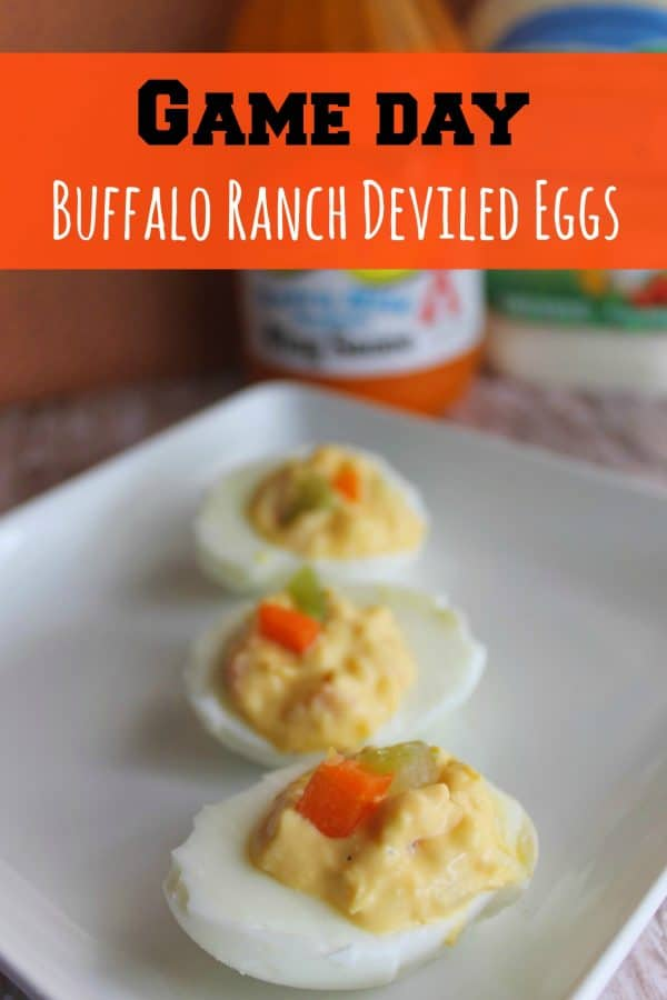 Spicy Buffalo Ranch Deviled Eggs Recipe| This Mama Loves