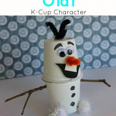 Frozen Inspired Olaf Upcycled K-Cup Craft