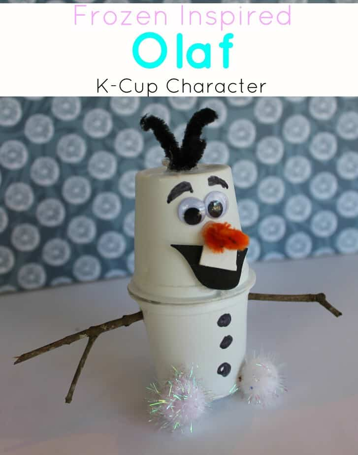 frozen craft olaf upcycle k cup project