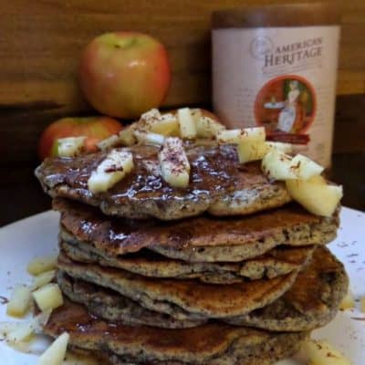 Chocolate Pancakes with Apples