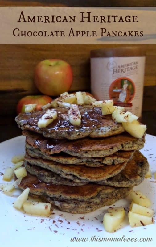 American Heritage Chocolate Apple Pancakes