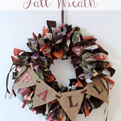 Fabric Scrap Fall Wreath