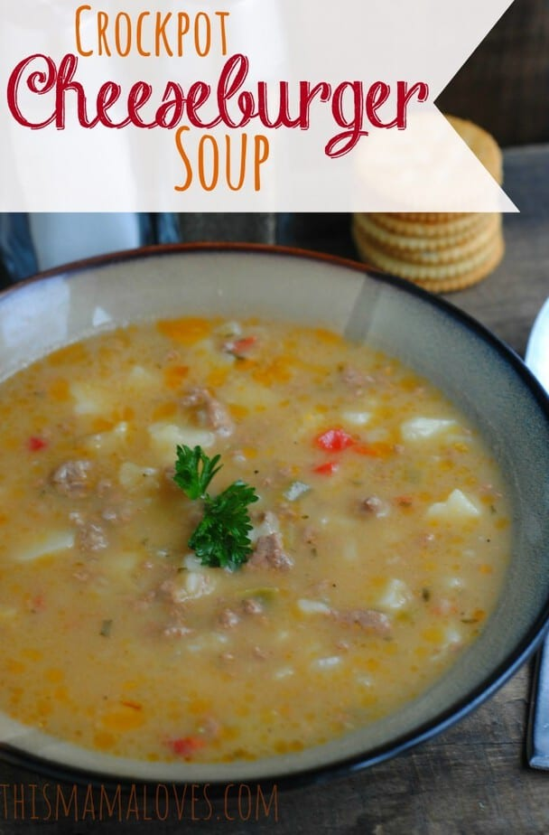 Cheeseburger Soup In The Crockpot
