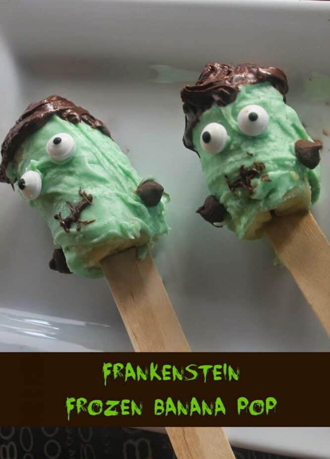 Frankenstein chocolate covered banana pops recipe