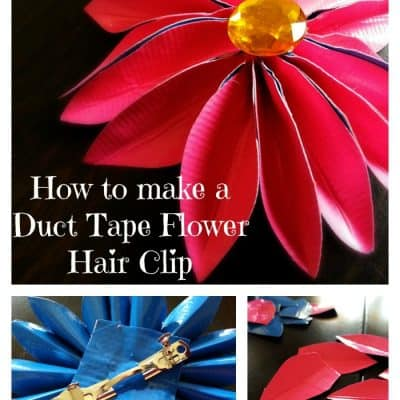 Duct Tape Flower Hair Clip