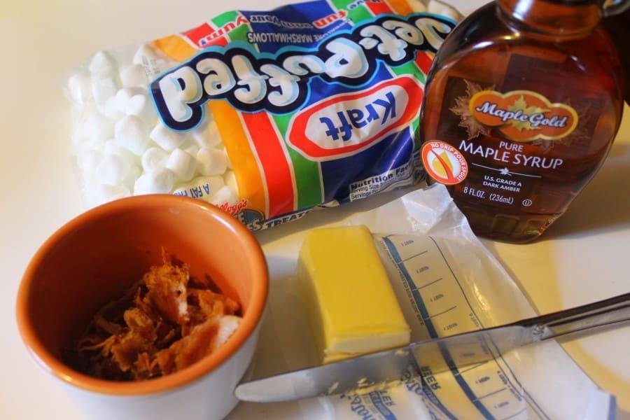 maple bacon popcorn balls ingredients