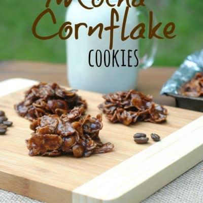 Mocha Cornflake No Bake Cookies