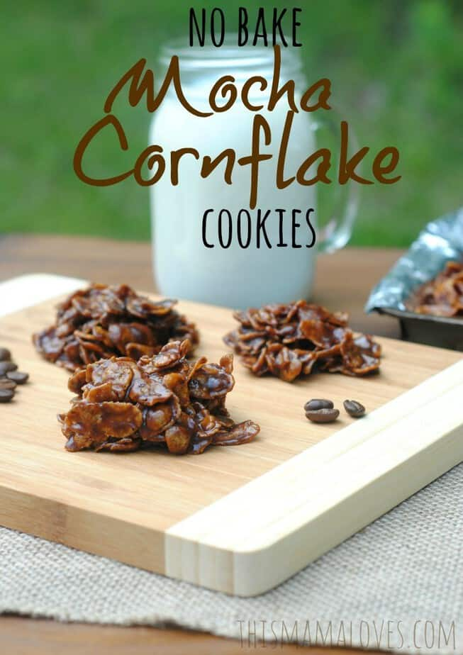 no bake mocha cornflake cookies