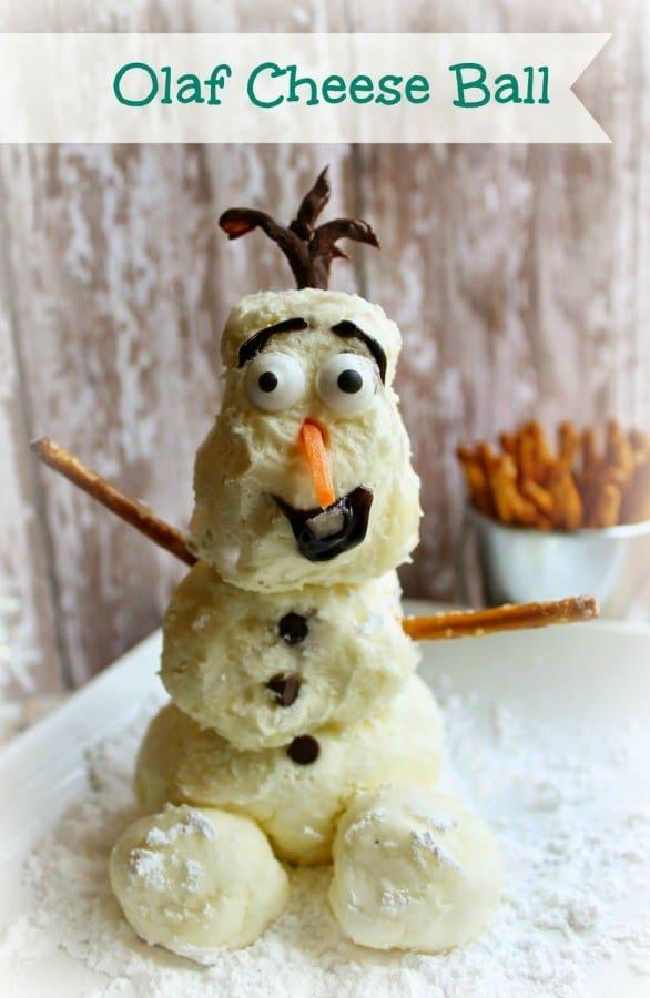 olaf cheeseball snowman cheeseball
