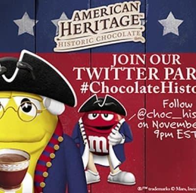 #ChocolateHistory #TwitterParty 11/11