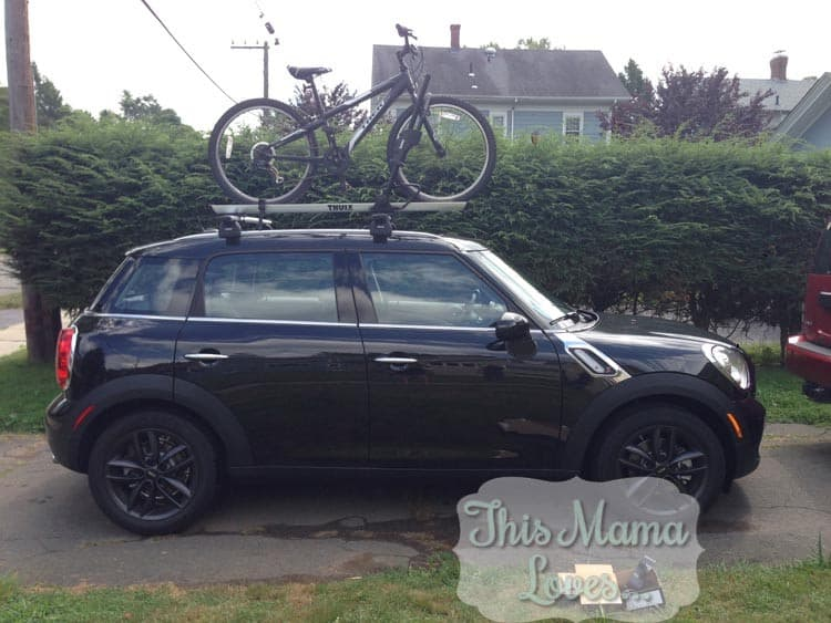 Mini countryman roof rack  thule
