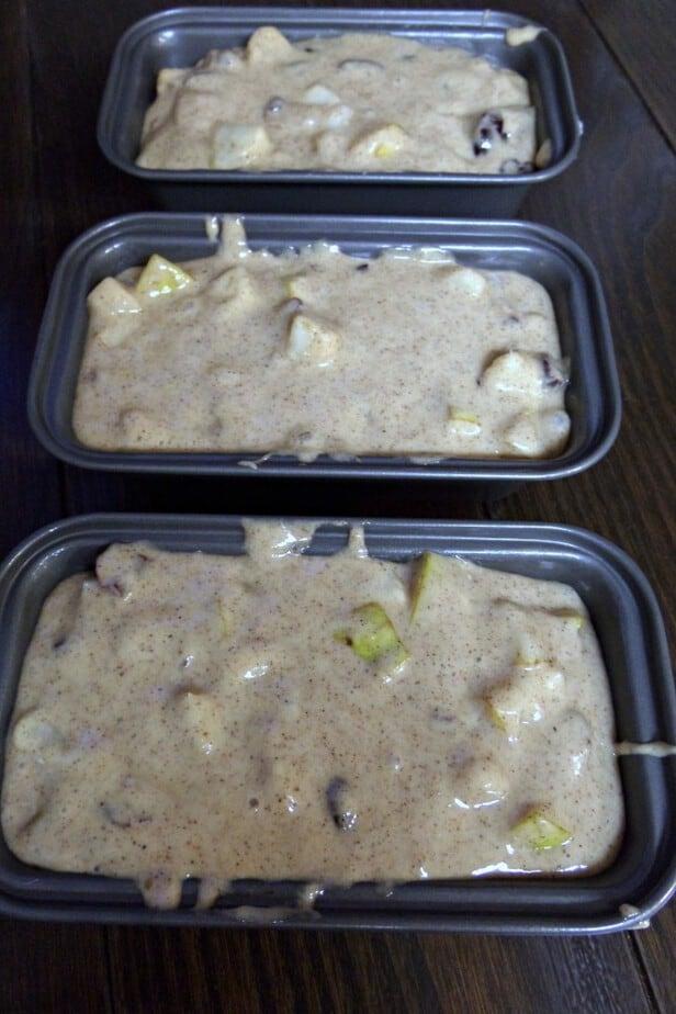 chunky pear bread process
