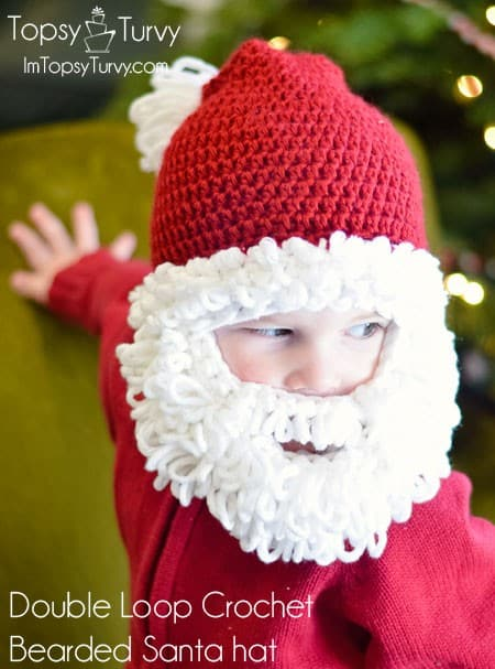 double beard santa hat