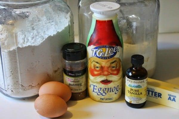egg nog cookies ingredients