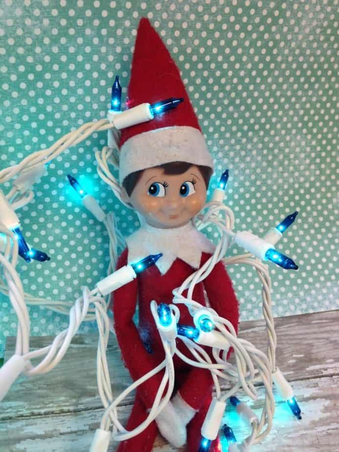 elf blue lights